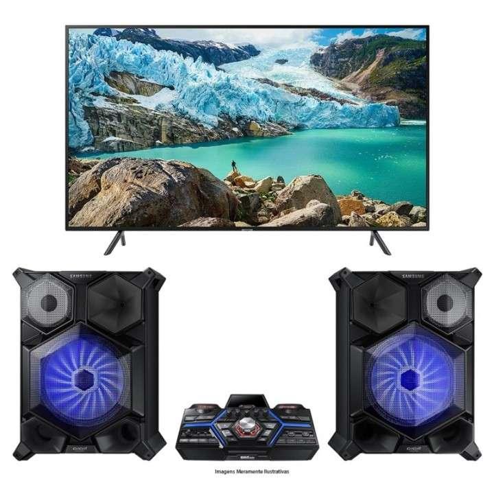 TV LED Samsung 75 pulgadas Digital/UHD 4K/HDMI + Mini System - 0