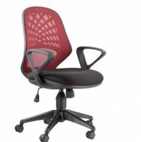 Silla de oficina Consumer respaldo bajo tela rojo