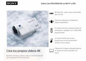 Cámara de Acción Sony FDR-X3000 4K