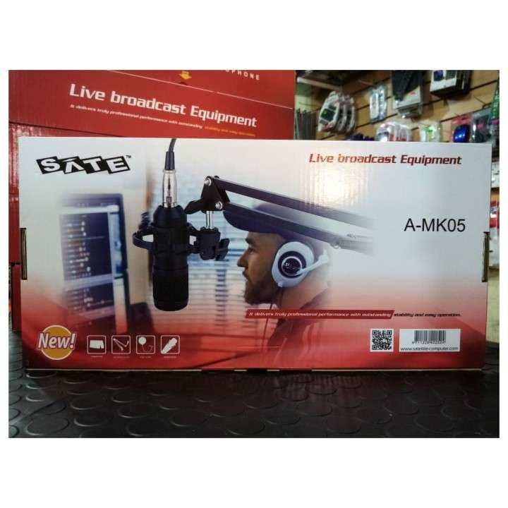 Micrófono p/ estudio condensador Sate A-MK105 - 0