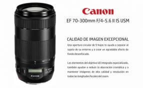 Lente Canon 70-300mm F/4-5.6 II IS USM