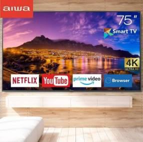 Smart TV Aiwa de 75 pulgadas