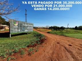 Terreno en esquina a metros de la Supercarretera de Itaipú