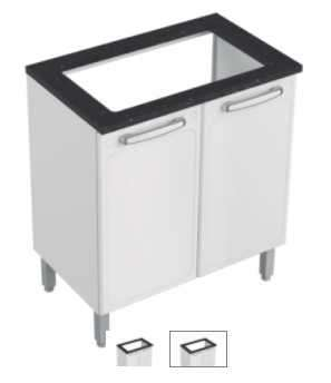 Mueble de cocina Bertolini Evidence Plus base DBL 2 puertas cookto - 0