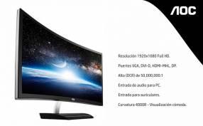 Monitor Full HD AOC 27 pulgadas curvo