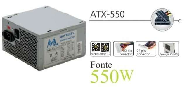 Fuente 550W MTEK (24+4 P) YQ550 - 0