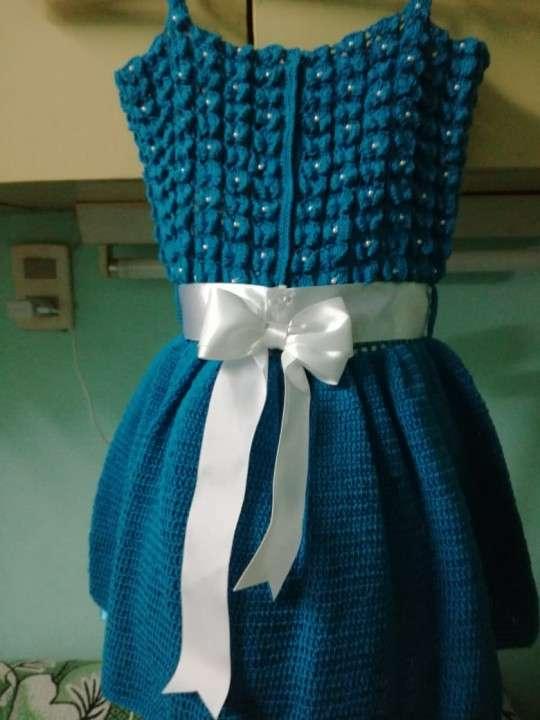 Vestido de crochet para nena de tres años - 1