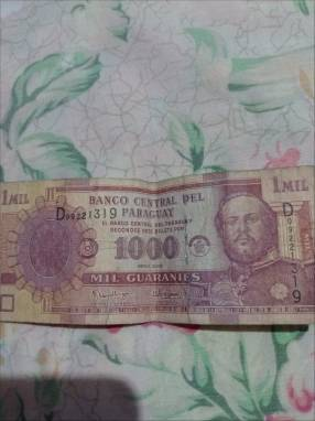 Billete de 1.000 gs antiguo