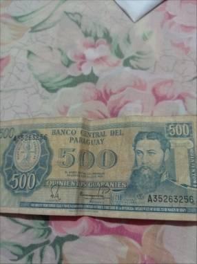 Billete de 500 gs de 1952