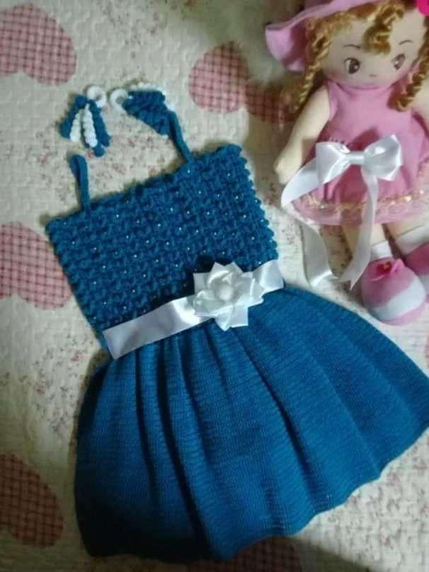 Vestido de crochet para nena de tres años - 0