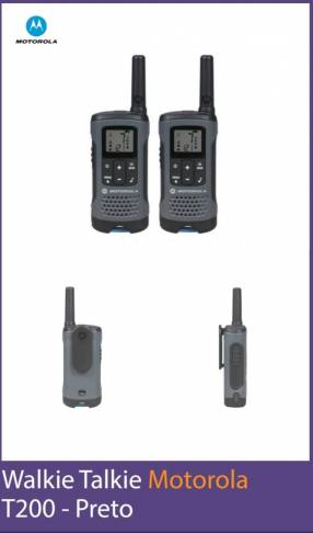 Radio walkie Motorola t200