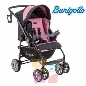 Carrito de bebé Burigotto AT6 K Negro Rosa