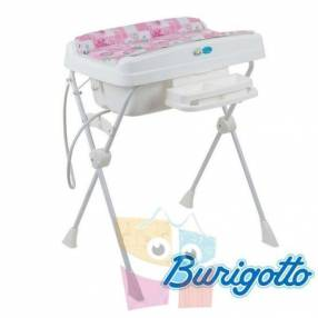 Bañera con cambiador y reductor Burigotto Millenia Rosa Peixinho