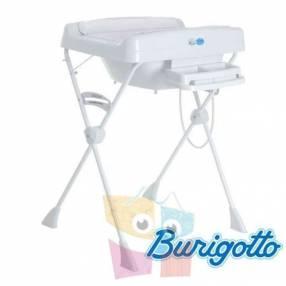 Bañera con cambiador y reductor Burigotto Millenia Blanca
