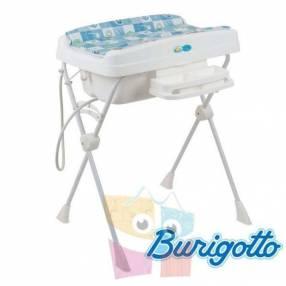 Bañera con cambiador y reductor Burigotto Millenia Azul Peixinho