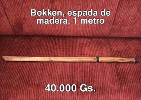 Bokken espada de madera 1 metro