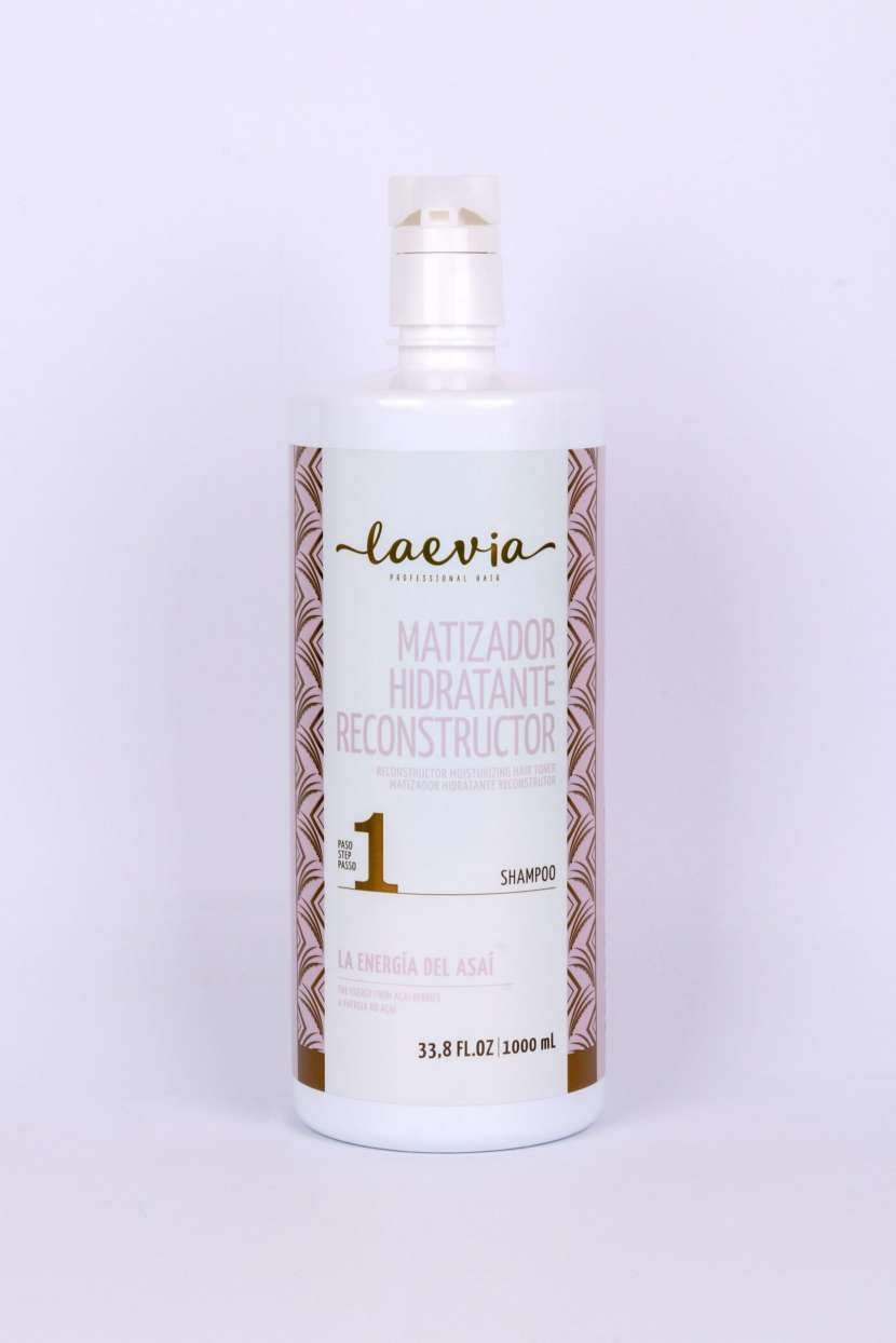 Laevia Shampoo Matizador Hidratante Reconstructor de 1000 ml. - 2