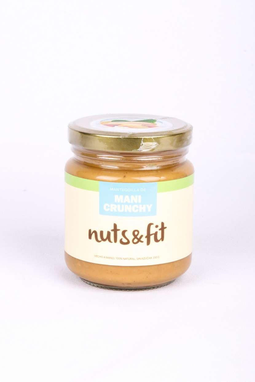 Fit Mantequilla de Maní Crunchy de 230 Gramos Nuts & - 1