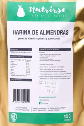Harina de Almendras de 450 Gramos Nutrirse