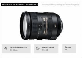 Lente Nikon DX 18-200mm F/3.5-5.6G ED VR II
