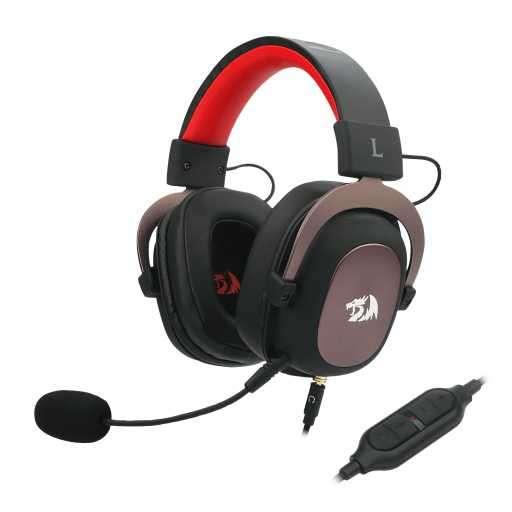 Auricular Gamer Redragon Zeus 2 H510-1 - Rojo/Negro - 0