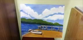 Pintura al óleo de paisaje