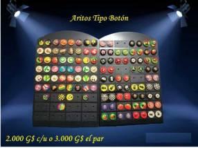 Aritos tipo botón