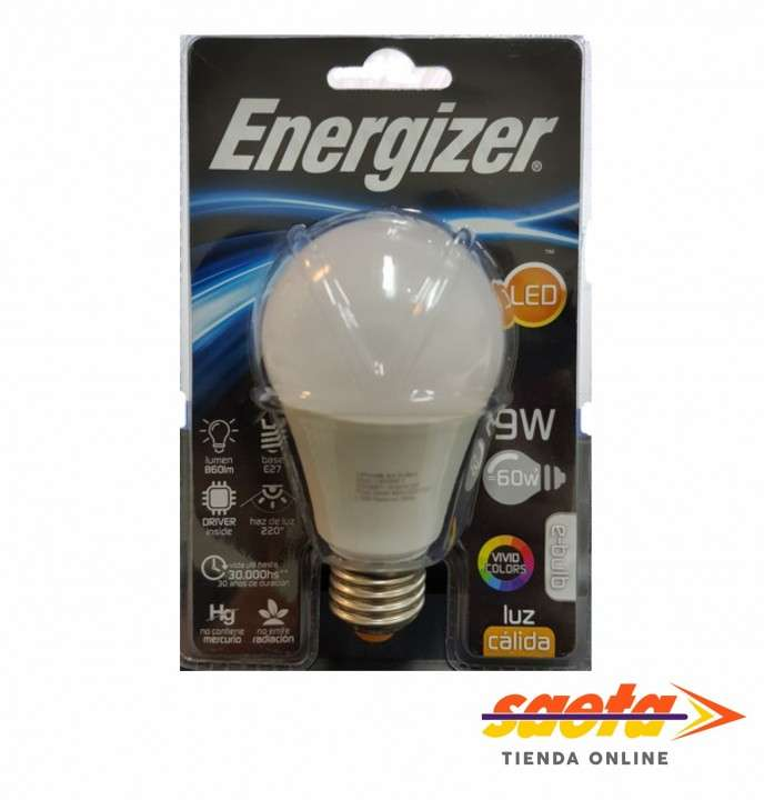Foco led Energizer E27-9W cálida - 0