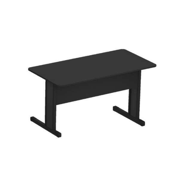 Mesa recta 120x60 cm negro 15mm - 0
