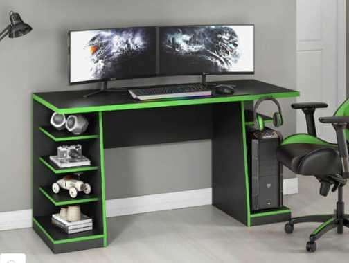 Mesa gamer NT2020 Notavel negro verde - 1