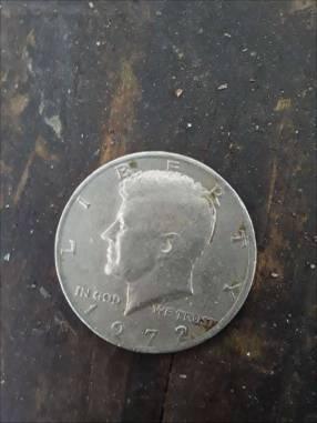 Moneda americana de 1972 half dollar