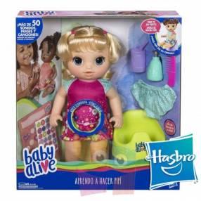 Muñeca Baby Alive va al baño Hasbro Rubia