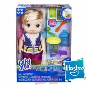 Muñeco Baby Alive Ricas Comiditas Hasbro Rubio