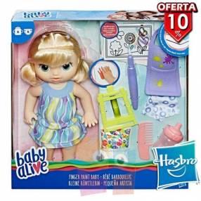 Muñeca Baby Alive Pequeña Artista Hasbro Finger Paint Baby