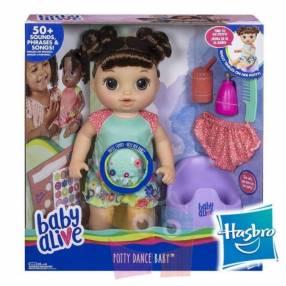 Muñeca Baby Alive va al baño Hasbro Morena