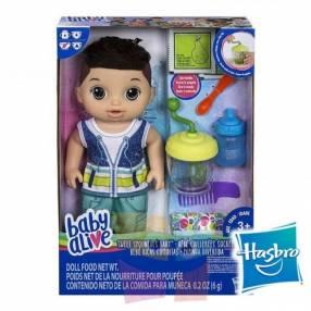 Muñeco Baby Alive Ricas Comiditas Hasbro Moreno