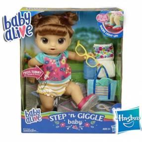 Bebé Pasos y Risas Castaña Baby Alive Hasbro