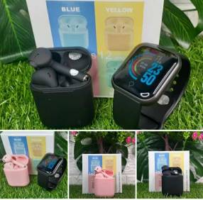 Auricular a bluetooth + reloj smart