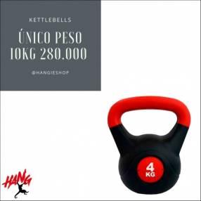 Kettlebells o pesas rusas de 10 y 12kg