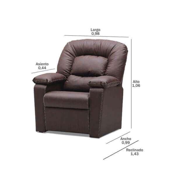 Sillón reclinable poltrona españa abba (3114) - 4