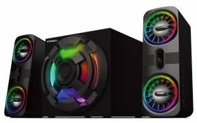 Parlante Gamer con subwoofer RGB 80W Bluetooth