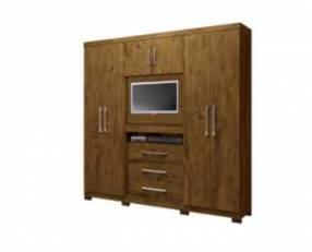 Ropero de 6 puertas Dubai Moval Castaño Wood