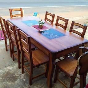 Juego de comedor rústico 8 sillas MF 3322