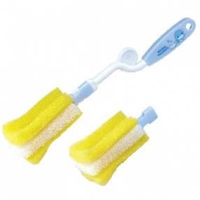 Cepillo de mamadera con esponja reemplazable
