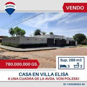 Casa en esquina Villa Elisa