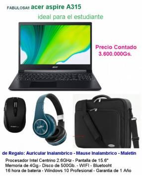 Notebook Acer Aspire A315