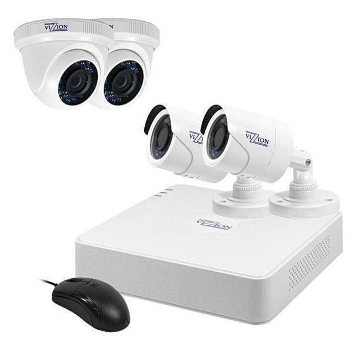Kit CCTV de vigilancia Vizzion VZ-KIT0804 8 CH + 4 Cámaras - 0