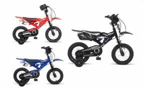 Bici moto Caloi aro 12 rojo negro azul