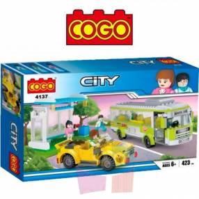 Estación de bus juego de construcción Cogo Blocks 423 piezas