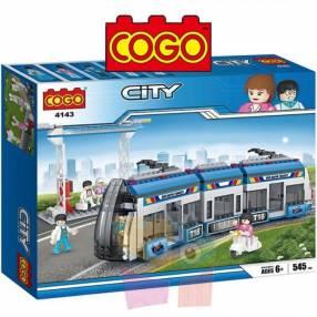 Estación de tren juego de construcción Cogo Blocks 545 piezas